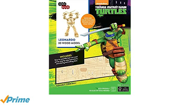 INCREDIBUILDS: TEENAGE MUTANT NINJA TURTLES: LEONARDO 3D ...