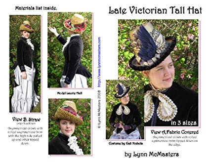 Amazon.com  Late Victorian Womens Tall Hat Pattern  Everything Else 33fd6653c86e