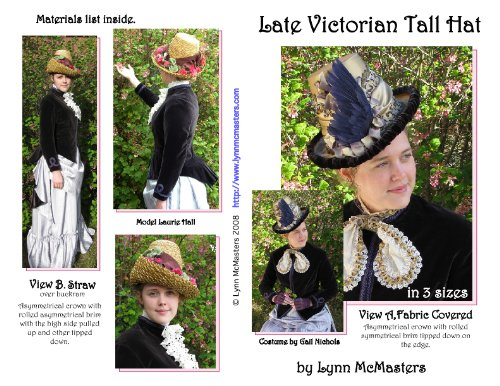 Victorian Hat History | Bonnets, Hats, Caps 1830-1890s Late Victorian Womens Tall Hat Pattern $13.95 AT vintagedancer.com