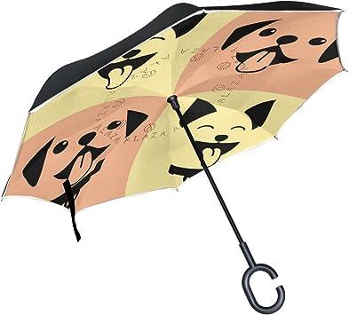 Paraguas invertido, reflectante de ISAOA a rayas, reverso ...