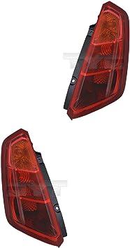 Heckleuchten Rückleuchten Rücklicht Set Rechts Links Satz Für Modell Grande Punto 199 Baujahr 06 2005 Kunststoff Ohne Lampenträger Auto