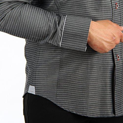 H K Mandel -  Camicia Casual  - con bottoni - A pois - Uomo