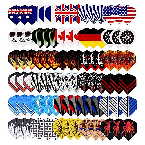 Nylon Dart (25 Sets(75Pcs) Long Life Durable Nylon Dart Flights Sets Wholesale National Flag Rich Variety Of Cool Styles Bling Long Life Laser Darts Flights)
