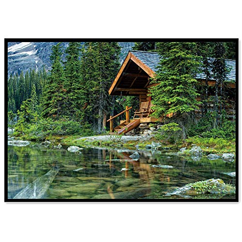 - DIY 5D Diamond Painting Kit - Full Diamond Lakeside Cottage Embroidery Rhinestone, Cross Stitch Arts Craft Supply for Home Wall Decor (40x30cm)