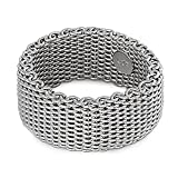 925 Sterling Silver Mesh Style Ring Size 7