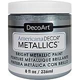 DecoArt Ameri Deco MTLC Americana Decor Metallics 8oz Silver, 1