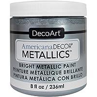 DecoArt Decoart Americana Decor Metallics 8oz Silver, DECADMTL-36.13, 1