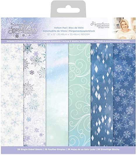 one Size Multi Sara Signature Glittering Snowflakes Collection-6 x 6 Paper Pad