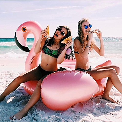 Amazon.com: Veslagy 150CM 60 Inch Giant Inflatable Flamingo Pool Float Pink Ride-On Swimming Ring Adults Children Water Holiday Party Toys Piscina adults: ...