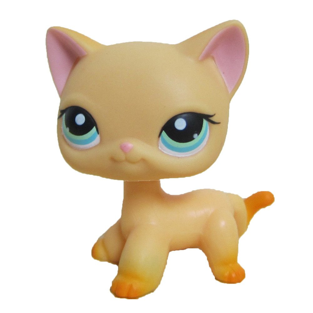 Good Luck Pet Shop Collection LPS Toy Yellow Short Hair Kitten Cat Child's Birthday Present dreamsLE_LPS Pet Toy Store