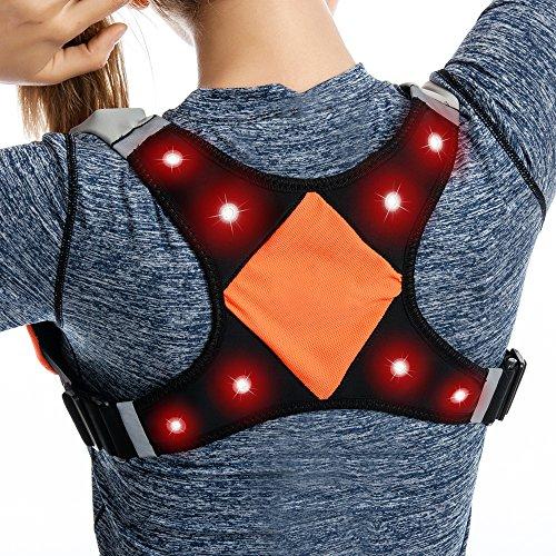 FANCYWING LED Night Running Vest & Belt for Runners, USB Rechargeable for Night Running, Walking, Jogging - Safe, Bright Light, High Visibility for Men, Women & Kids