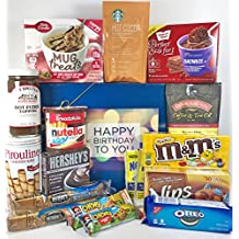 Large Chocolate Lovers Birthday Gift Box Basket Prime Over 5.5 Lbs Happy Birthday Candy Wishes For Friend Mom Dad Son Daughter Brother Sister Aunt Uncle Cousin Grandma Grandpa