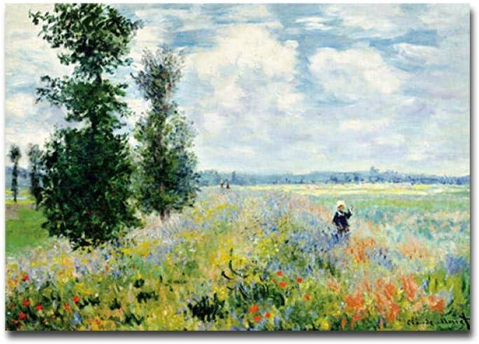 MhY Decoración del hogar Abstracto Claude Monet Pintura al óleo Impresa en Lienzo Arte Pared Cuadros Sala decoración 40x60cm Sin Marco