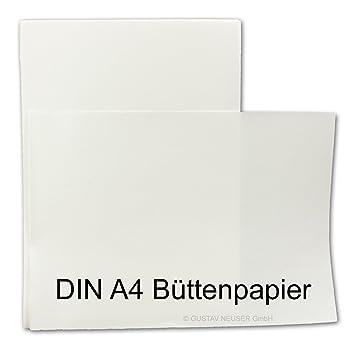 Zerkall b/ütten DIN A5//único Tarjetas Parent Color Naturwei/ß 25 Karten