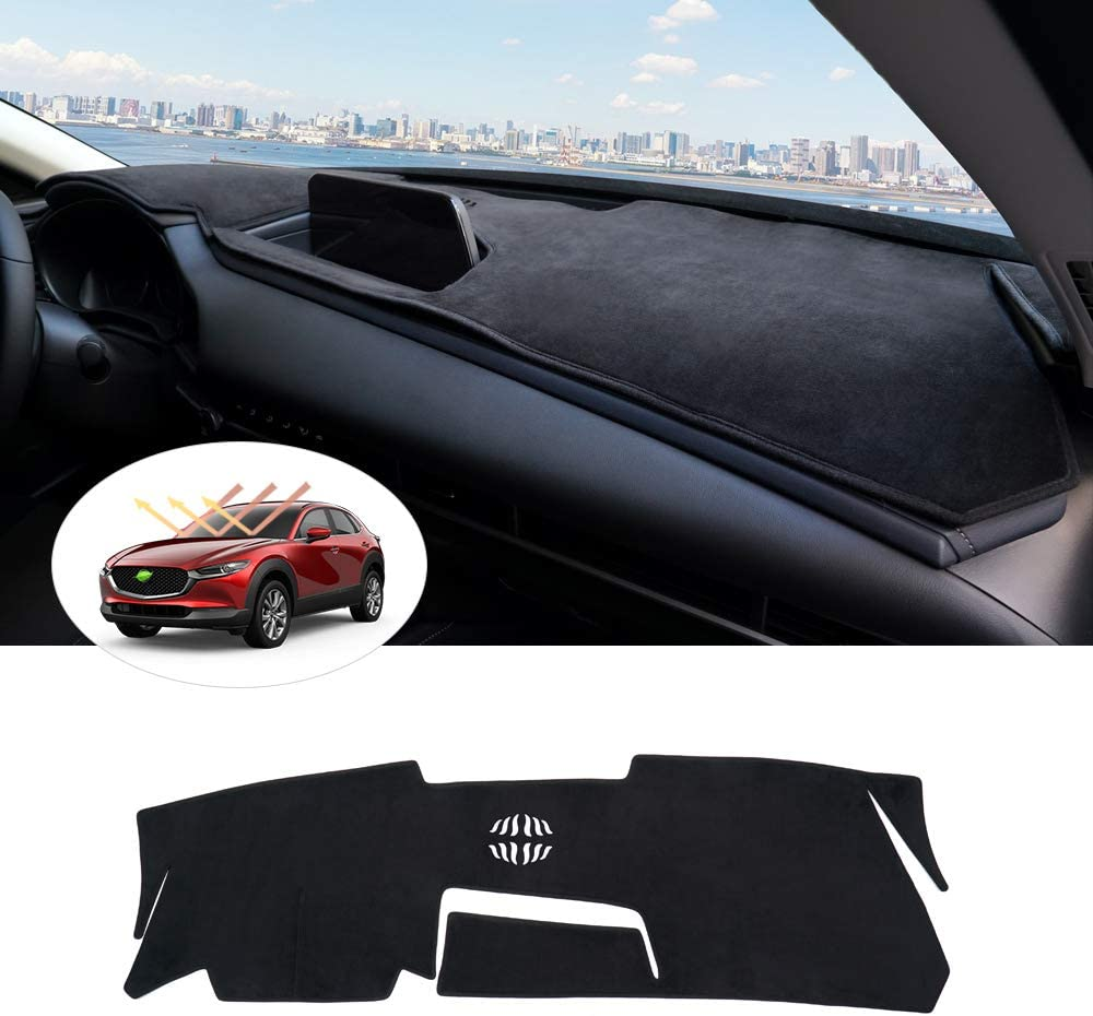 Autorder Dashboard Mat Cover for Mazda CX-30/ 2019 2020 2021 Dash Cover Nonslip Dashboard Mat Protector Sunshade No Glare