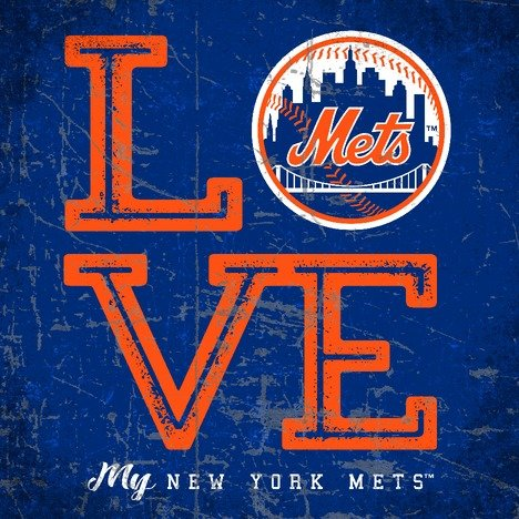 Prints Charming New York Mets Color Love My Team - Square
