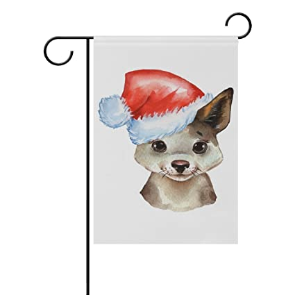 Amazon com : ClustersN Puppy Santa Hat Double-Sided Printed