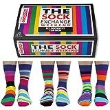 The Sock Exchange Weekend Oddsocks , Set da 6 calzini, Multicolore, Taglia 39-46 EU