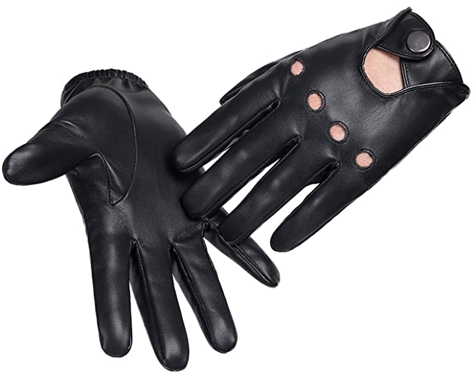 Men's Accessories Men's Gloves & Mittens Hot Men PU Leather Gloves Full Finger Motorcycle Driving Warm Touch Screen T