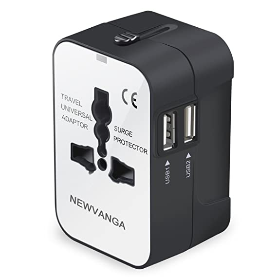 Travel Adapter, Worldwide All in One Universal Travel Adapter Power  Converters Wall Charger AC Power