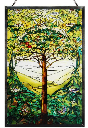 Tiffany Tree of Life Art Glass Panel 10