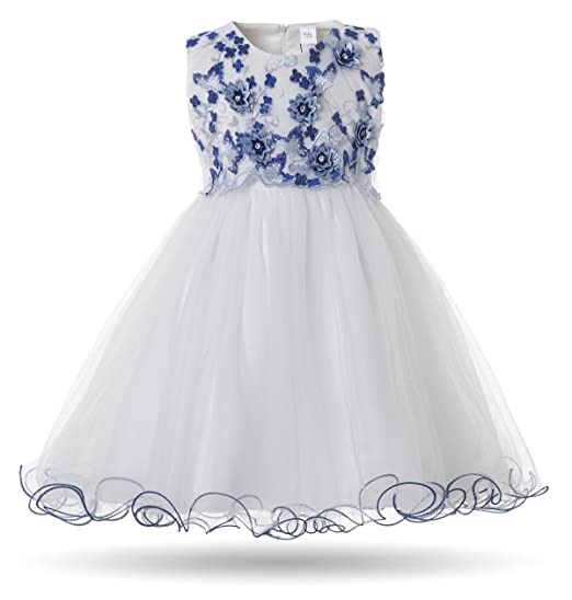 23f81bb467048 CIELARKO Baby Girl Dress Infant Flower Lace Wedding Party Dresses for 0-24  Months …