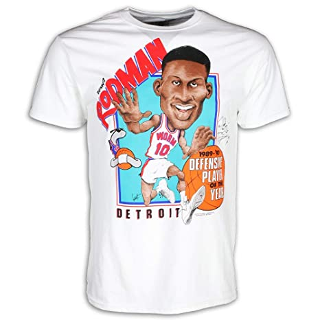 f49fa821b6cc Amazon.com   Detroit Pistons Bad Boys Apparel- Authentic Vintage Dennis  Rodman T-Shirt   Sports   Outdoors