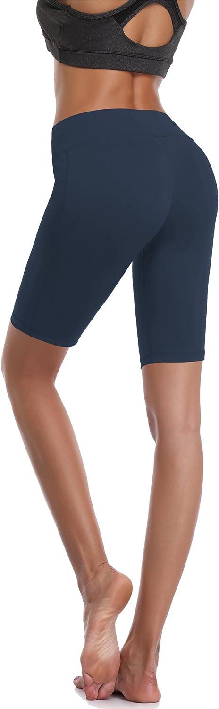 Cadmus Womens Stretch Workout Biker Shorts with Pocket