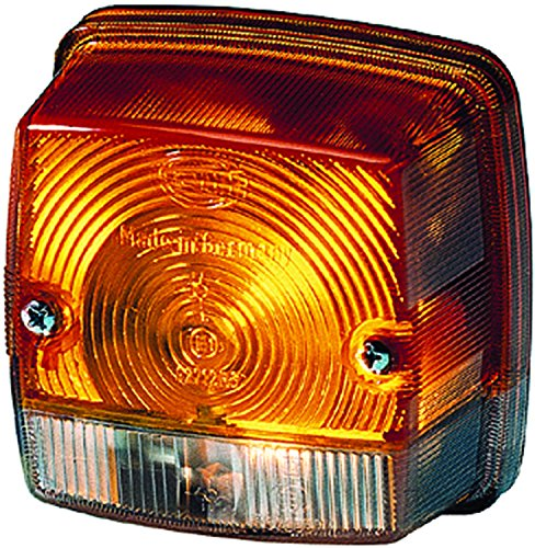 HELLA 003014251 3014 Series Amber and White Turn Signal and Side Marker Lamp