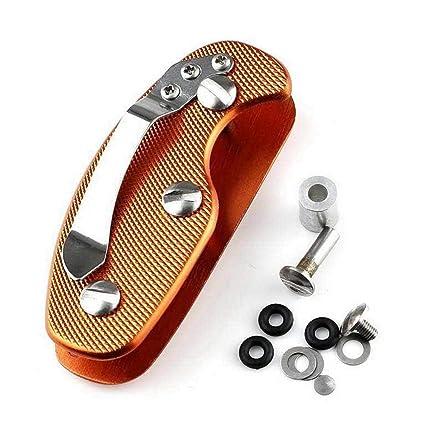 Fashion Key Holder Organizer Clip Folder Stainless Keyring Keychain Pocket Tool