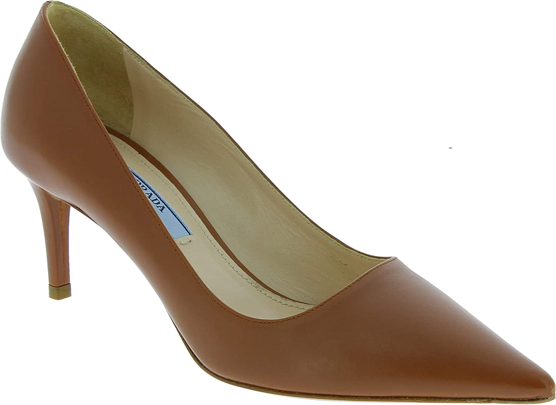 Prada Escarpins Pointus Stiletto pour Femme en Cuir de Veau