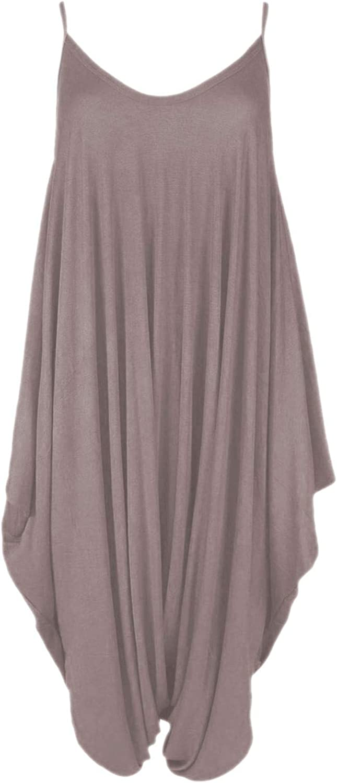 janisramone Girls Kids New Thin Strappy Strappy Plain Cami Jumpsuit Baggy Italian Drape Lagenlook Romper Playsuit