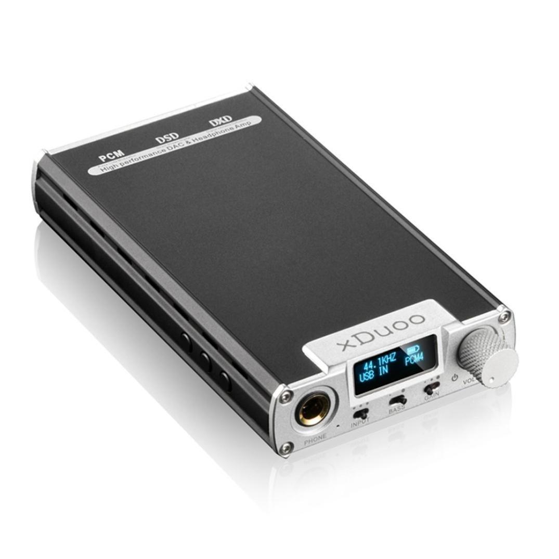 XD05 Silver xDuoo DSD DAC Portable Audio Headphone Amplifier