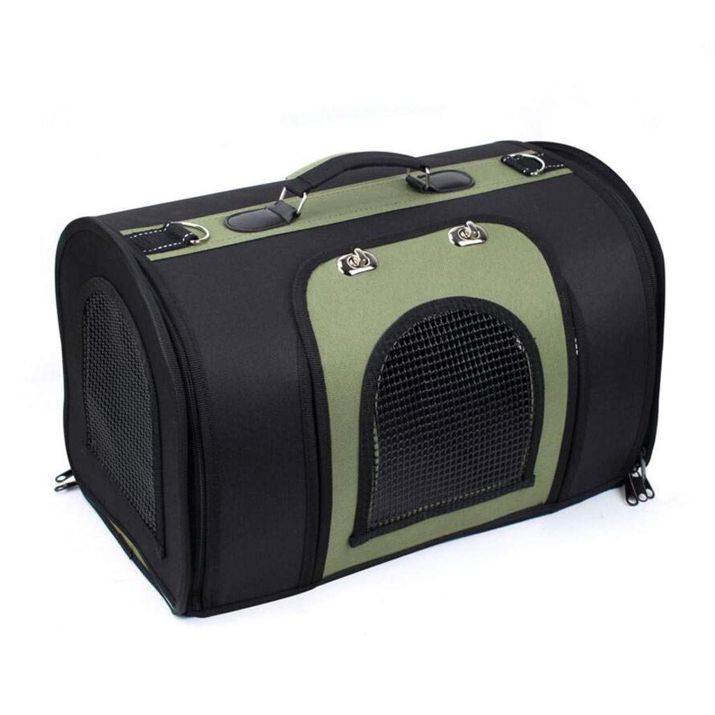 Black L Black L LYLa Lightweight Fabric Pet Carrier Crate with Mat Food Bag Portable Folding Pet Cage Pet supplies (color   Black, Size   L)