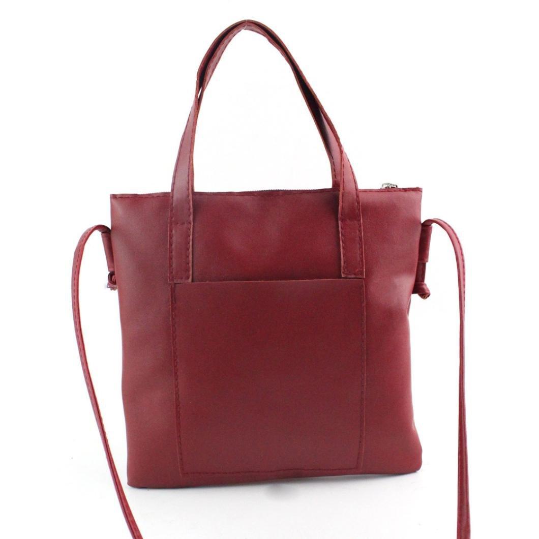 Pocciol Women's Clearance Clearance Women Fashion Large Handbag Shoulder Shopping Bag Tote Ladies Purse (Red)