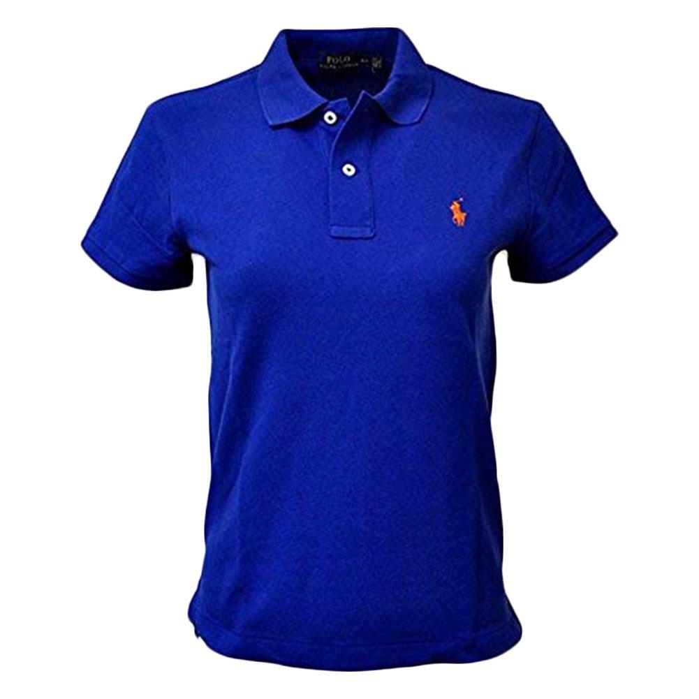 RALPH LAUREN Polo Men Medium Fit Interlock Polo Shirt (L, StrongBlue)