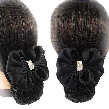 Amazon Com Shungfun Women Bowknot Snood Net Barrette Hair