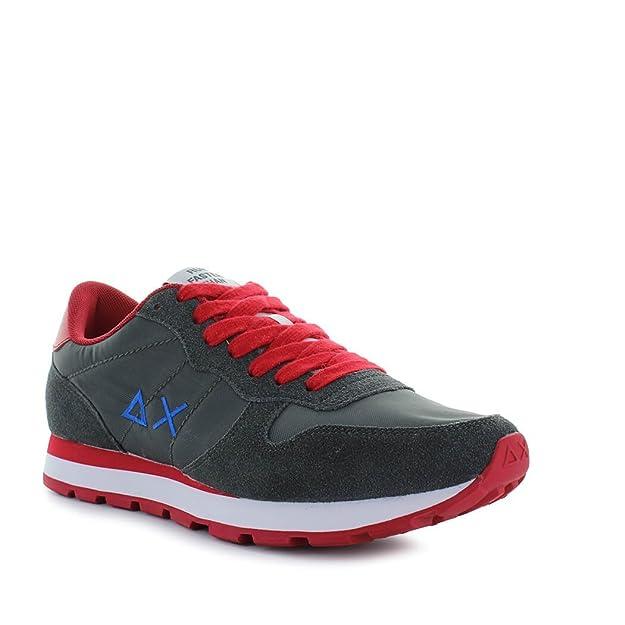 SUN68 Chaussures Homme Baskets Track Big Logo Rouge/Bleu Printemps-Été 2018 EPnKxK