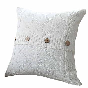 hunpta tejer Fashion manta fundas de almohada de café sofá ...