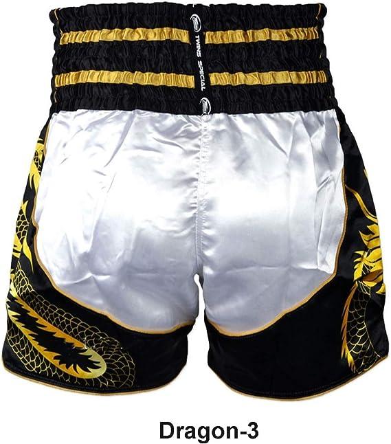 BLACK DUO /'10YR/' THAI BOXING TRAINING /& FIGHTING SHORTS