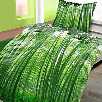 Bettwasche Baumwolle Renforce Bambus Mit Rv 4 Teilig 135x200