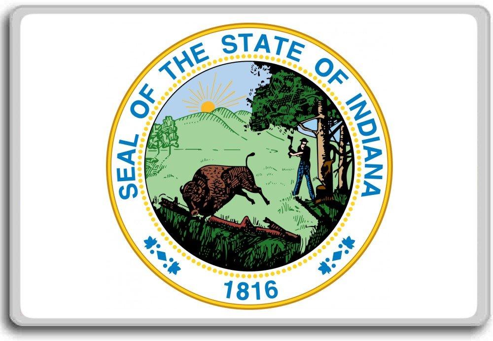Usa, Indiana State Seal fridge magnet Photosiotas