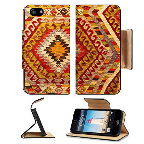 Luxlady Premium Apple iPhone 5 iphone 5S Flip Pu Leather Wallet Case iPhone5 IMAGE ID: 33771947 Detail of Turkish Carpet in Istanbul City