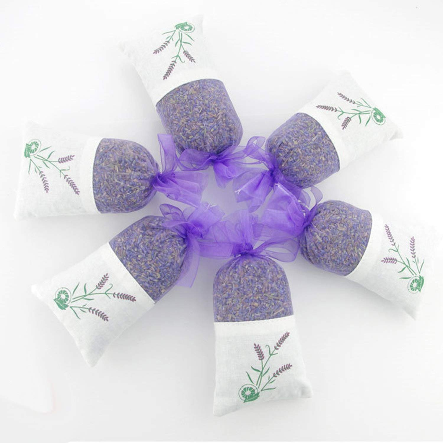yuexianghui Natural Dried Flowers Lavender Bud Sachet Decorative Flower Aromatic Air Fresh Living Room Drawer,6 Pcs by yuexianghui (Image #5)
