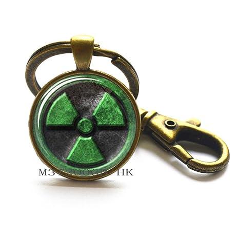 Amazon.com : Hulk Keychain Avengers Radiation Symbol ...