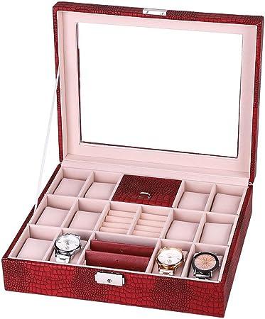yuyte 4 en 1 Estuche de Almacenamiento de Joyeria, Caja de Joyero de Viaje, Organizador de Joyas para Relojes y Pendientes y Collar y Anillo(03): Amazon.es: Hogar