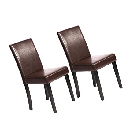 Amazing Amazon Com Leather Elegant Design Dining Chairs Home U42 Creativecarmelina Interior Chair Design Creativecarmelinacom