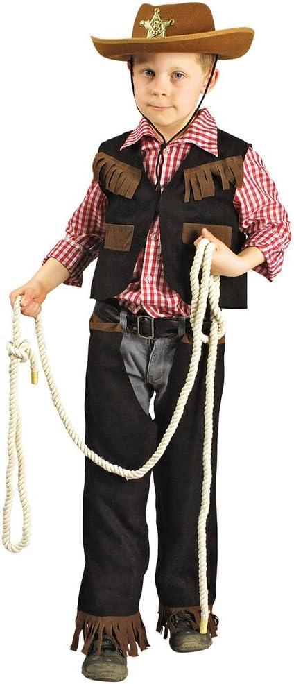 Cowboy Disfraz chaleco, camisa y tendón Talla:98-104: Amazon.es: Bebé