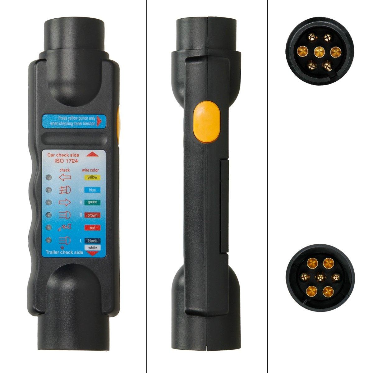 Anhngertester Beleuchtungstester Anhnger Auto 12V 7polig ...