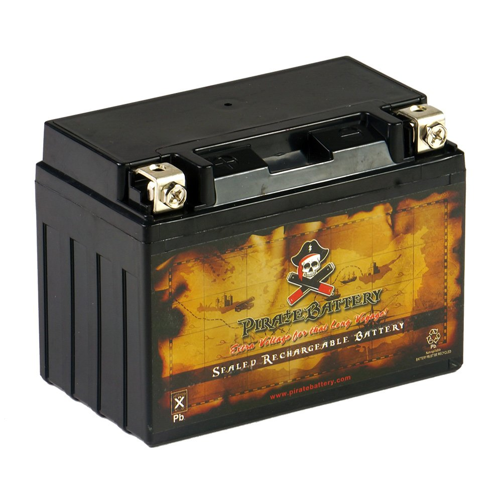 Replacement YTX9-BS Powersports Battery - Rechargeable - Maintenance Free - Absorbed Glass Matt - Pirate Battery by Chrome Battery